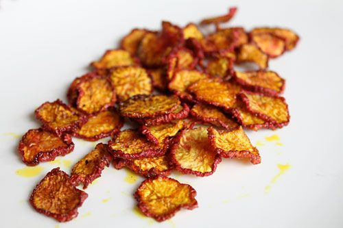 Radish Chips- skip the oil and just add spices you like- Phase 4 can use oil