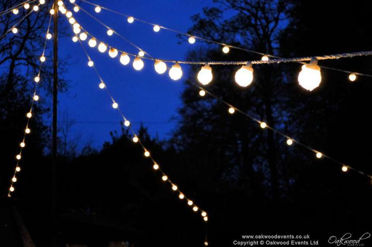 Outdoor festoon star of lights, suitable for courtyards. Creates a gorgeous 'circus tent' feel over your outdoor space