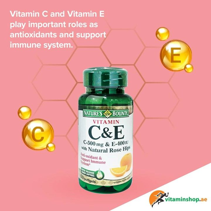 Vitamin C And Vitamin E Work Well Together Because They Support Each Other S Antioxidant Function Both Nutrie Vitamins For Skin Vitamins Daily Vitamins