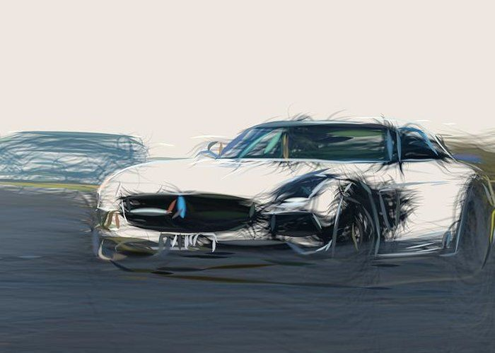 8 Mercedes Benz Sls Amg Black Series Drawing Carstoon Concept