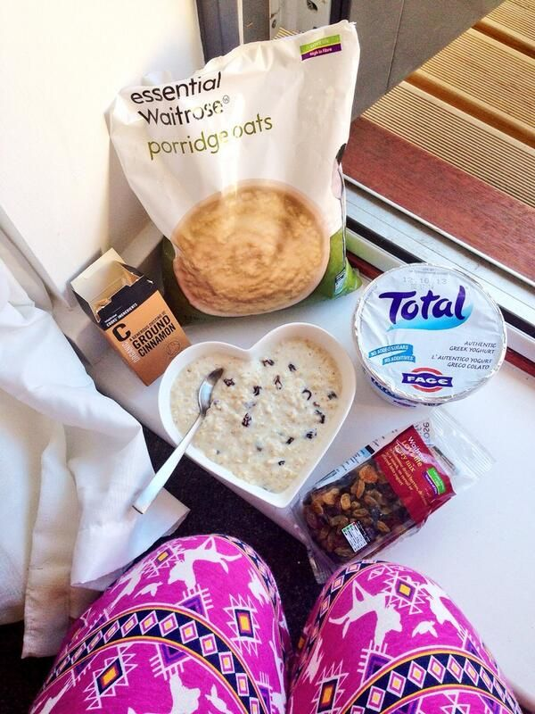 We love to see what you have for breakfast. @Carly Rowena 's looks pretty good (and we're enjoying the PJs too...).