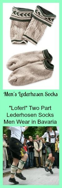 Lederhosen socks men need if they wear real Lederhosen! Loferl, long socks and even some fun novelty socks.