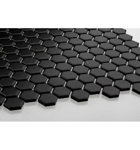 Hexagon mały, czarny, matowy