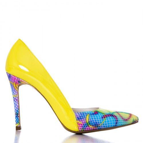 #CONDUR by alexandru #Shoes #2015 #Spring #Summer @1400 Lac galben cu multicolor