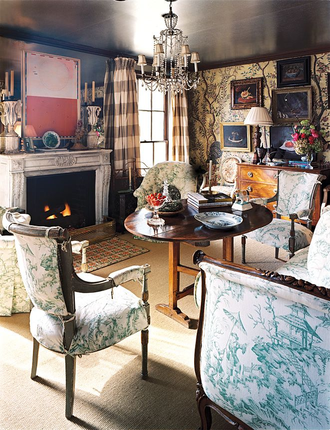 My Dream Toile Decorated Antique Filled Cozy New England