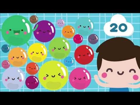 "Song, ""Counting Bubbles"" / Count to 20 Song for Children (from Kiboomu Kids Songs via YouTube)"