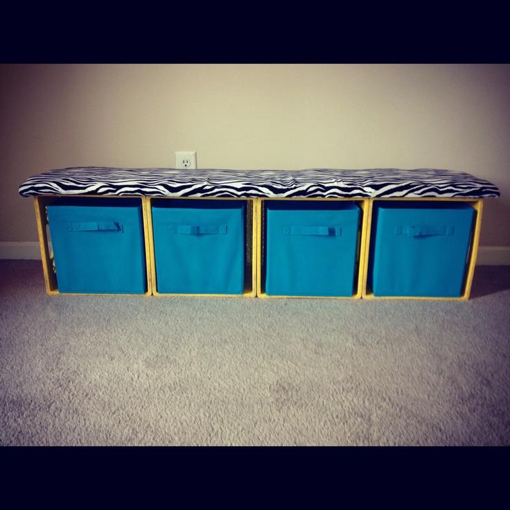 milk crate bench milk crate ideas pinterest