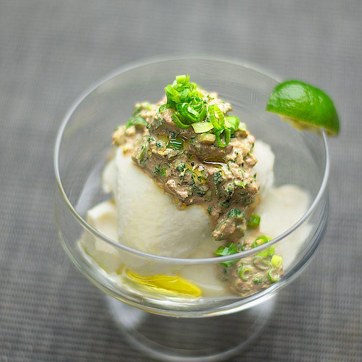 レバーペースト&豆腐