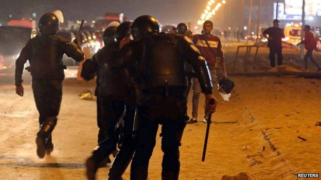 Egypt suspends football league after Cairo stadium deaths - Source - BBC News - © 2014 BBC #Egypt, #Stadium, #Clashes