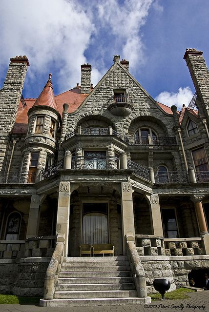 Victoria, BC Canada ~  ~My Fave. Craigdarroch Castle in Victoria, BC... It was constructed in the late 1800s as a family residence for the wealthy coal baron Robert Dunsmuir & his wife Joan.