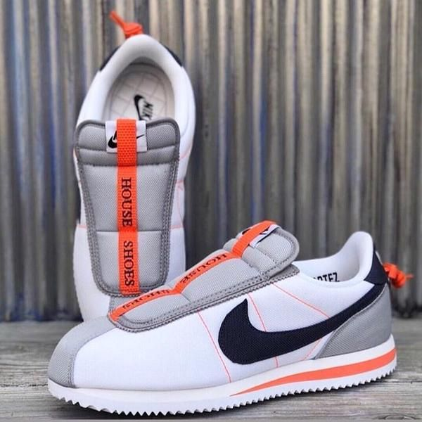 size 40 aabb6 650b5 Nike CORTEZ BASIC SLIP   Kendrick Lamar WHITE THUNDER BLUE-WOLF GREY-TURF  ORANGE