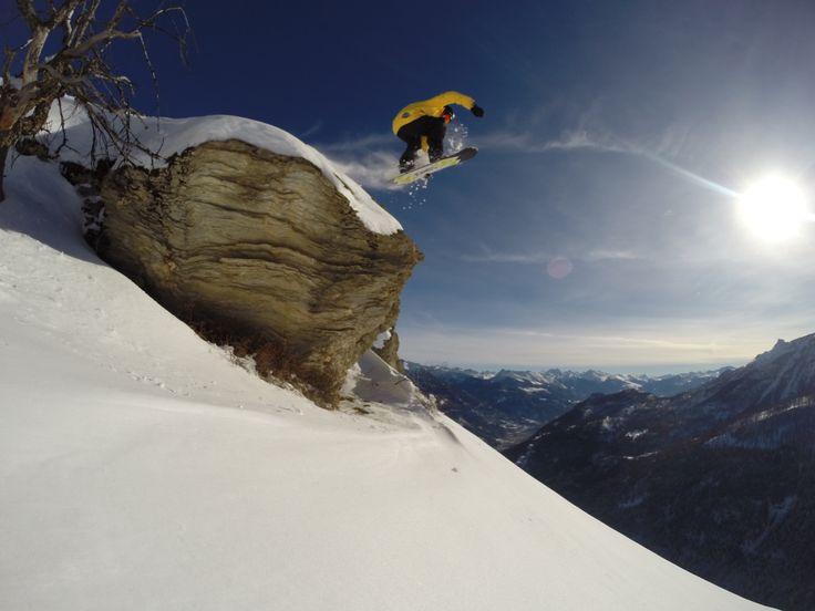 splitboard indy drop....Puy Saint Vincent ,1 Jan