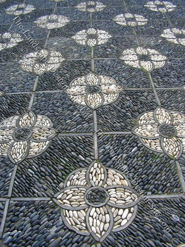 Decorative Mosaic Pattern Patio Garden Floor-- these are so pretty! I would love to have someone else make me one :)