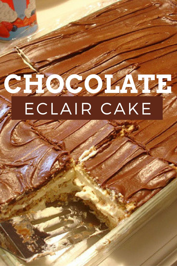Easy Chocolate Eclair Cake Recipe