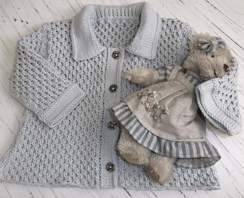 Knitting Pattern For Age : OGE Knitwear Designs - P058 - Baby Honeycomb Jacket (birth - age 2) knittin...