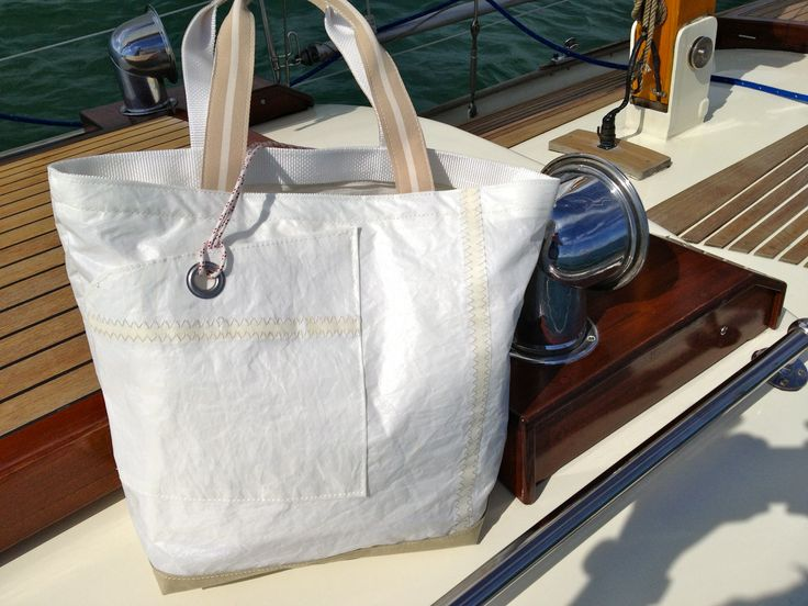 #sail bag made of recycled sailcloth by Rough Element #marine style #nautical style