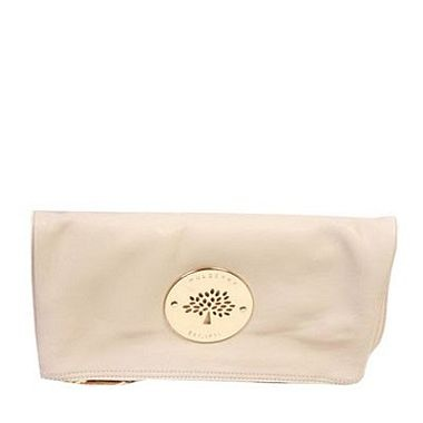 The white Mulberry Daria soft and squishy clutch bag... my hands would like to hold this