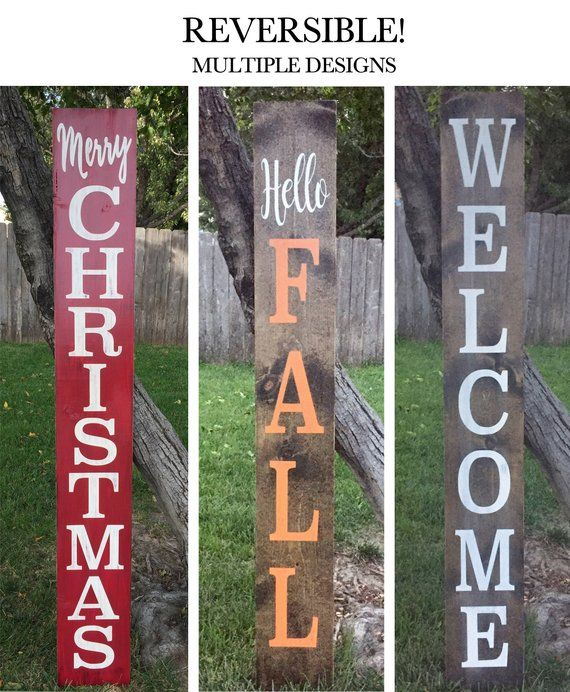 Large Welcome Sign Reversible Front Porch Sign Home Sweet Front Porch Signs Porch Signs Merry Christmas Sign