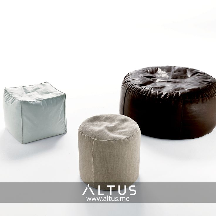 The Easy pouf from Désirée comes in many different color and material options and adds comfort to any room! www.Altus.me #MadeinItaly #Design #Designer #InteriorDesign #Furniture #luxury #home
