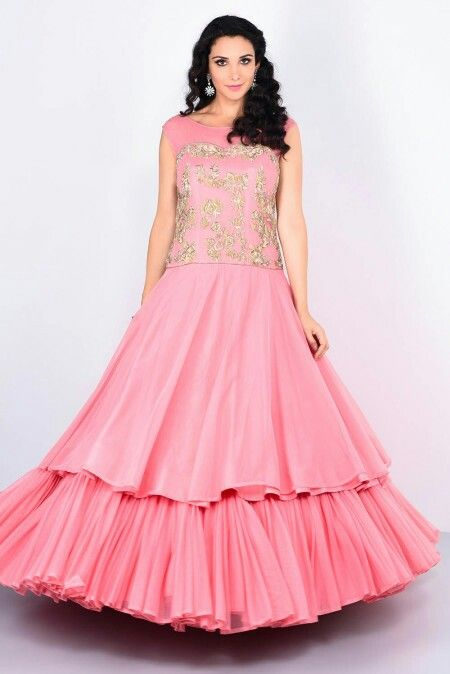 TRUNKLOOM - two layered pink cocktail gown