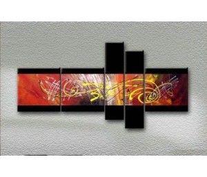 Cuadros abstractos modernos en acrilico texturados for Cuadros abstractos baratos