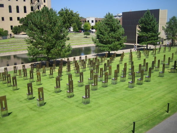 Oaklahoma City, Oklahoma Heartwreching...yet beautiful memorial