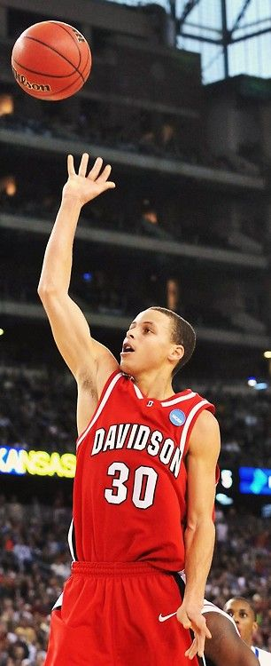 Steph Curry. I watched him singlehandedly beat my beloved Georgetown...you just sorta knew it then....greatness.