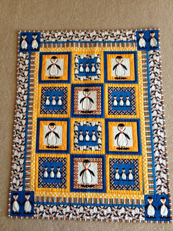40 Best Images About Penguin Quilts On Pinterest Spider