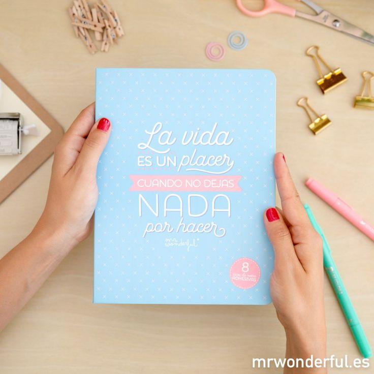 Libreta de notas adhesivas - La vida es un placer cuando no dejas nada por hacer