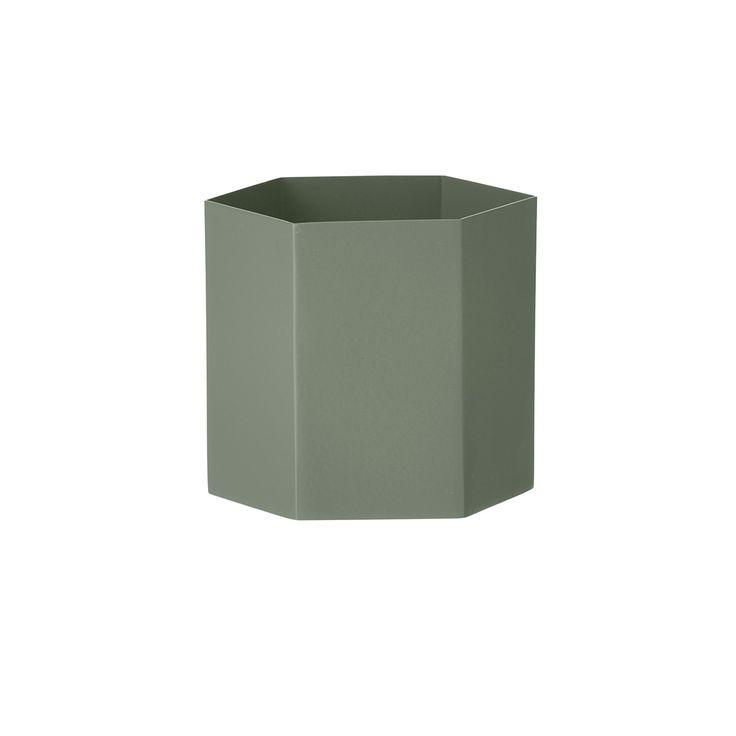 Pot Hexagonal Vert - L - Ferm Living