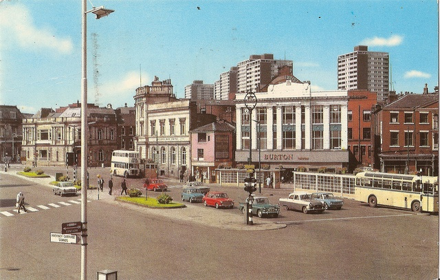 Rochdale Town Centre, Lancashire, c1970 by mikeyashworth, via Flickr