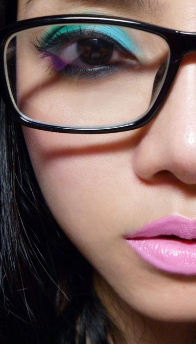Makeup for girl with glasses (Chinadoll palette - Lime Crime)