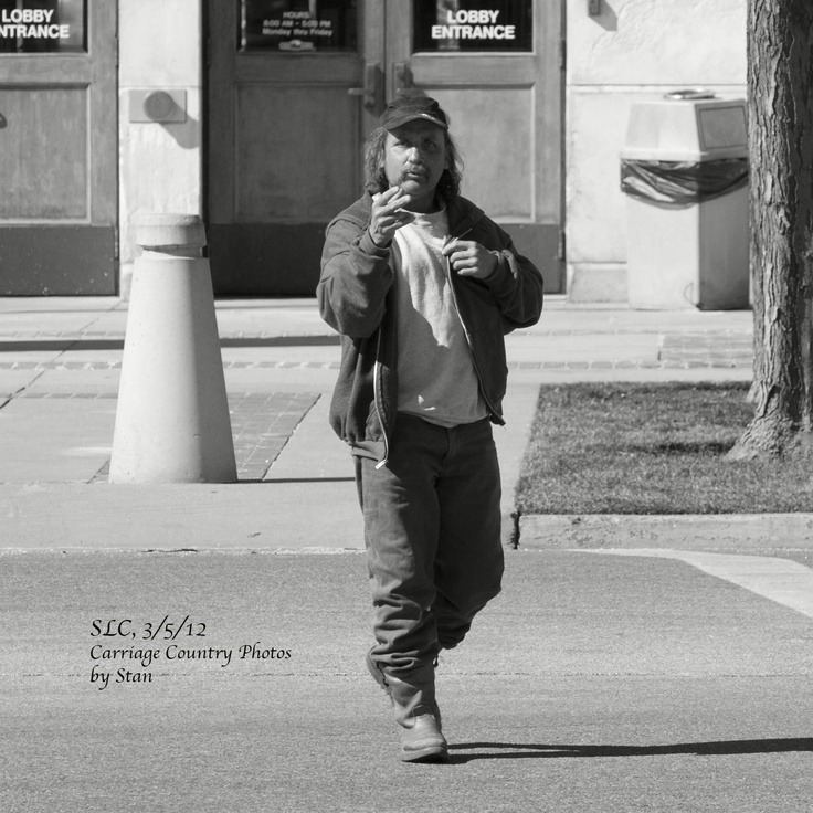 Street Person talking to himself.   3/5/12
