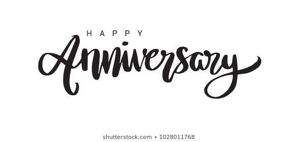 Happy Anniversary Lettering Text Banner Black Color Vector Illustration Happy Anniversary Lettering Happy Anniversary Lettering