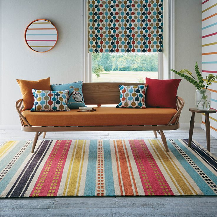 Rivi Rugs are a reversible flatweave rug which is hand woven in India by Brink and Campman and have been designed in the UK by Scion to match their range of fabrics and wallpapers. #LivingRooms #InteriorDesign