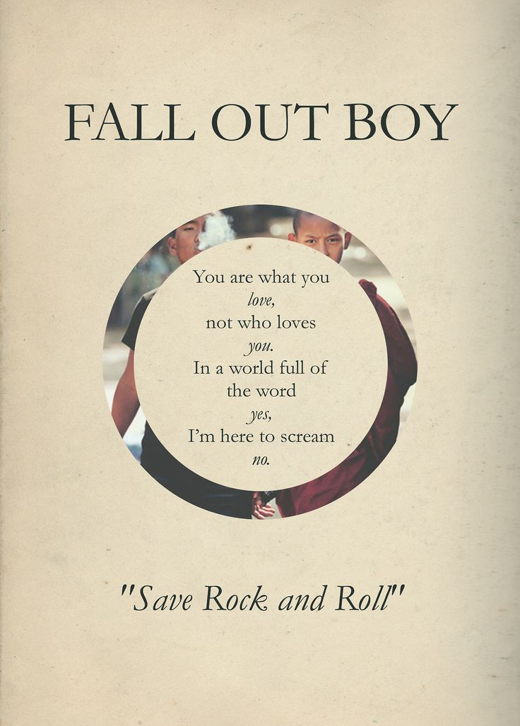 Save Rock And Roll Fall Out Boy Lyrics | www.imgkid.com ...