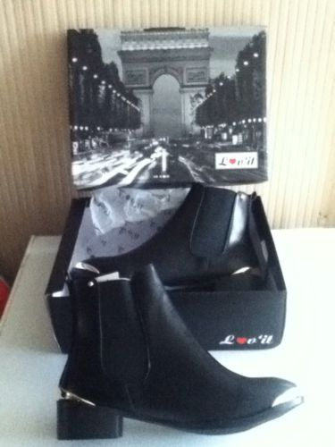 Ladies Brand New Boxed Size 5 Black Lov Fashion Ankle Boots! in Boots | eBay