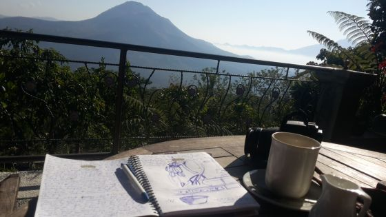 Doodling the Volcanic Mountain - Mount Batur