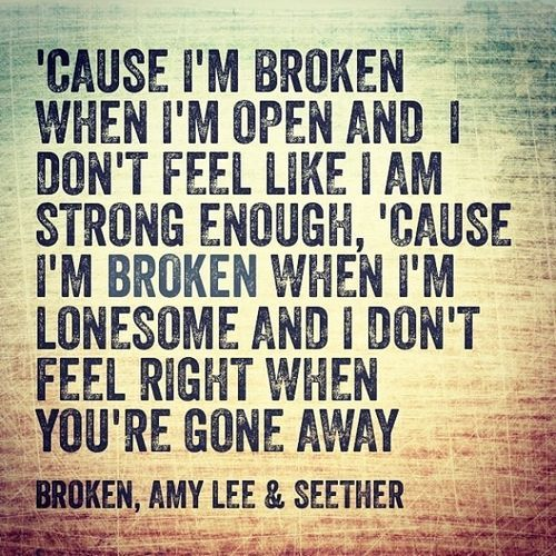 LOVE this song!! Broken ~ Seether ft Amy Lee