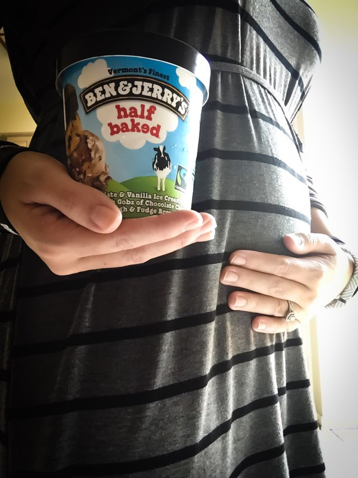 20 weeks. Half baked. Pregnant. Ben and Jerry's. Maternity.