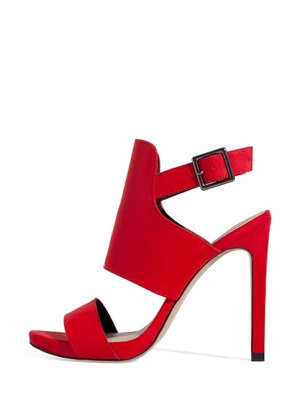 Charming Solid Color Buckle Thin High Heels Fashion Sandals