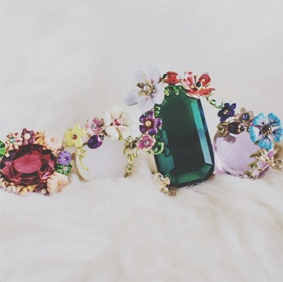 """Wonderful picture of rings """"Cité Imaginaire"""" & """"Jardin Extraordinaire"""" by @paulinefashionblog#lesnereides #lesnereidesparis #paris#jewellery #bijoux #aw13"""