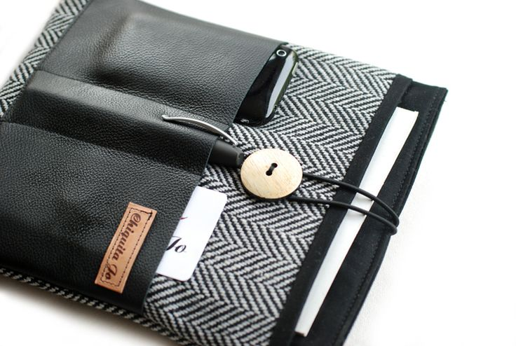 Notebooktaschen - IPAD-Hülle Organizada N°2 mit Leder und 4x Fächer! - ein Designerstück von Chiquita-Jo bei DaWanda