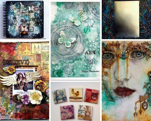Marjie Kemper's Tuesday's Tutorials Blog Series - art journal and mixed medial tutorials