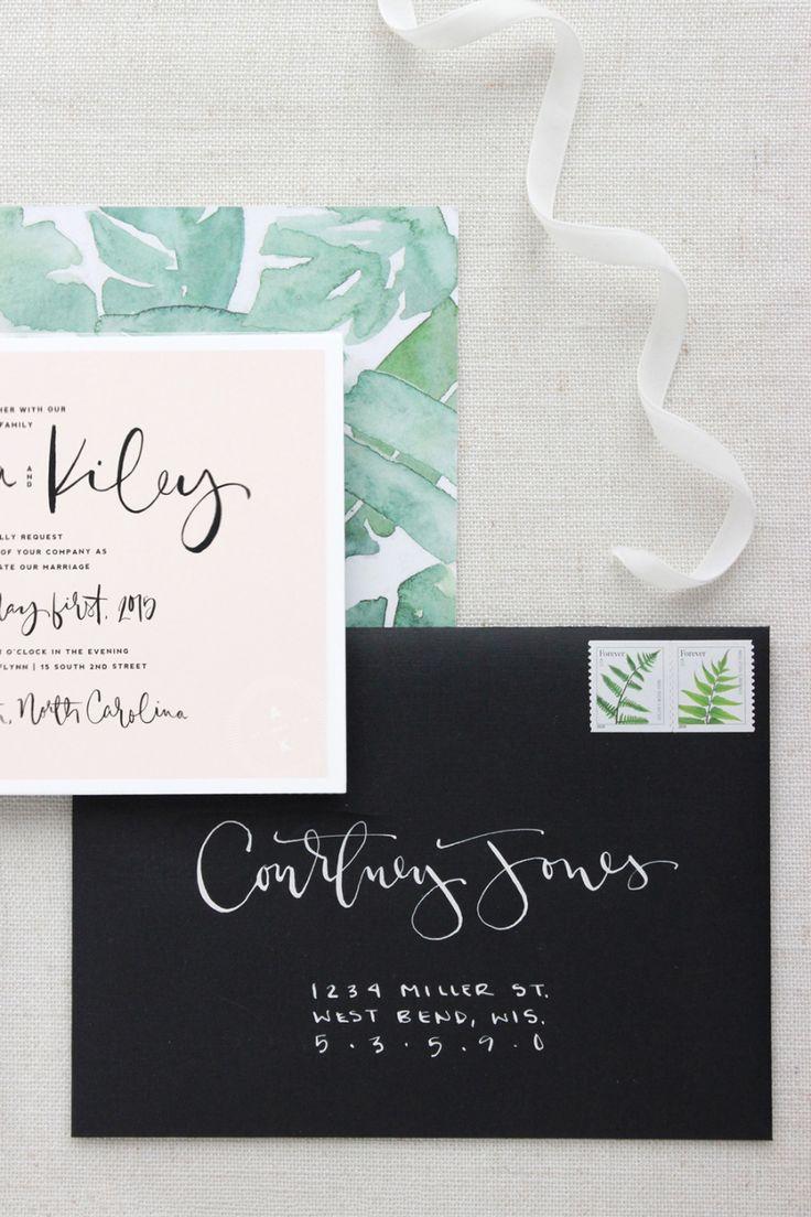 best home printer for printing wedding invitations%0A Blogger Bride Saffron Avenue u    s Urban Garden Party Wedding  Wedding  CaligraphyHandwritten Wedding InvitationsWedding Invitation EnvelopesPrint