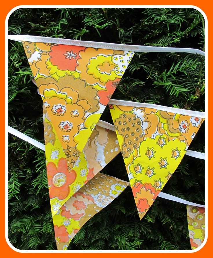 Retro bunting for a 1970's party