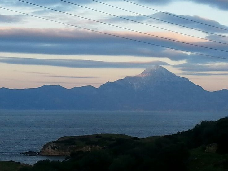 Evening view from mount Athos