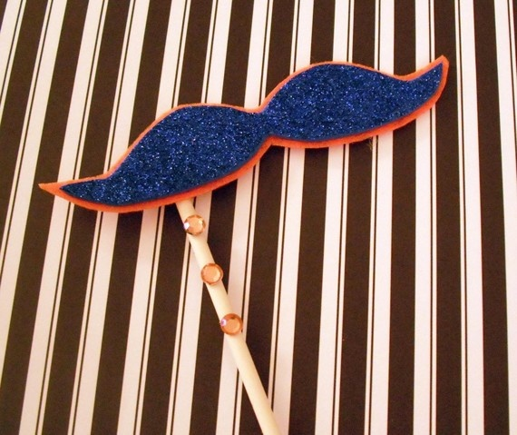 UF Gators 'stache for a wedding photo booth.