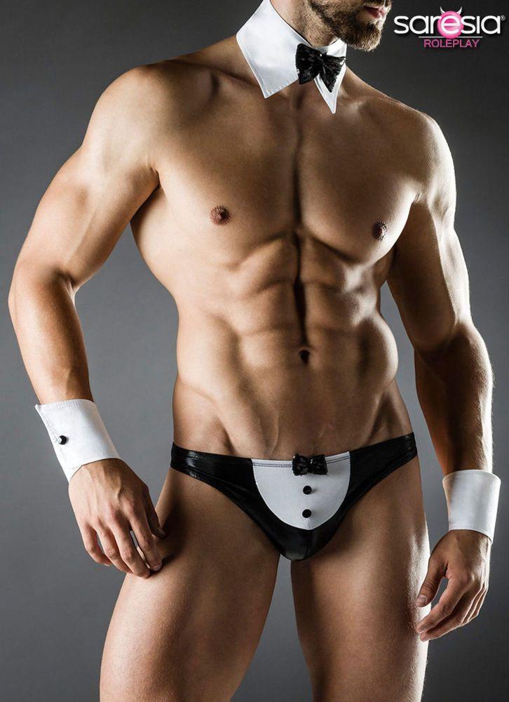 Butler Kostüm Fasching Sexy Karneval Herren Verkleidung Saresia S-L Diener Men