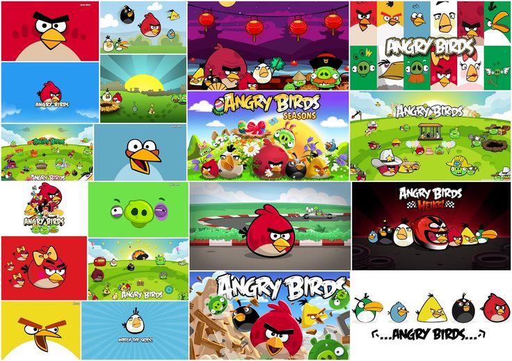 Angry Birds: ingyen nyomtatható hátterek, meghívók vagy lapjai.